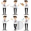 cartoon doctor in action