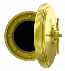 gold vault door