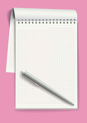 Notepad. Vector illustration