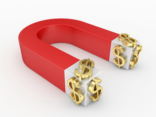 magnetic toll and gold dollar signs