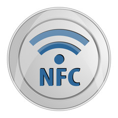 NFC icon button shiny metallic