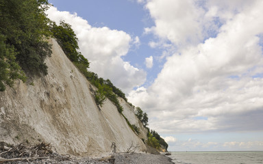 Mons Klint, Küste, Steilküste, Strand, Sommer, Dänemark
