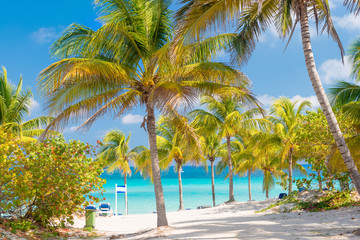 Sunny day at Varadero beach in Cuba