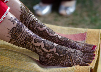 henna design, bride , wedding, Rajasthan, India