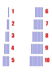 çizgili mavi sayı öğretimi