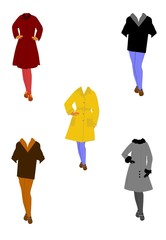 retro womens outer wear for the seasons