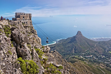 View from Table Mountain, Cape Town, South African
