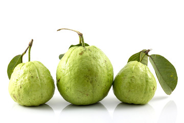 guava on white background