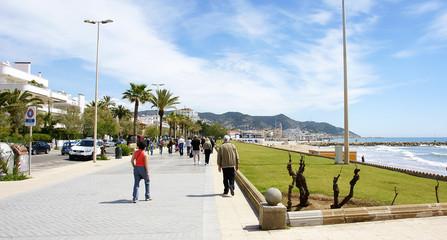 Panorámica del paseo de Sitges, Barcelona