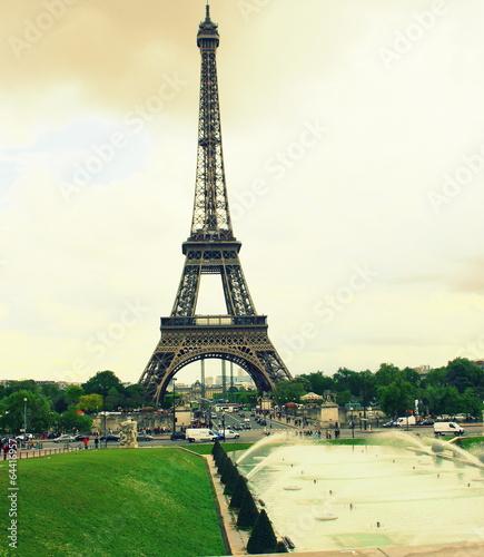 De la Tour Eiffel au Trocadéro,style rétro - 64416957