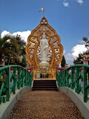 Outdoor Buddha Statue and Pathway, Central Highlands, Vietnam