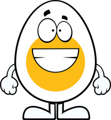 Grinning Cartoon Egg