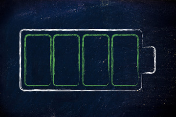 phone or electronical device battery design