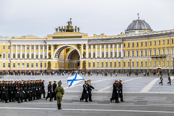 Victory parade on Palace Square in Saint Petersburg, April 28, 2