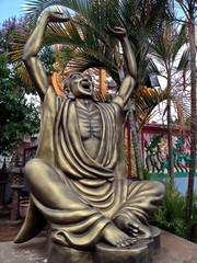 Outdoor Shouting Buddha Statue with Raised Arms, Vietnam