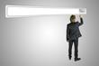 Businessman touching blank Search bar