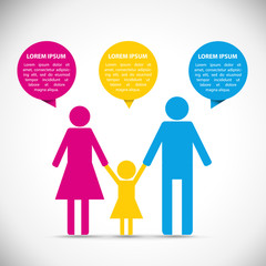 Family infographic icon template