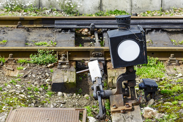 Railroad switch.