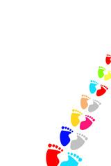 farbige Fußabdrücke...