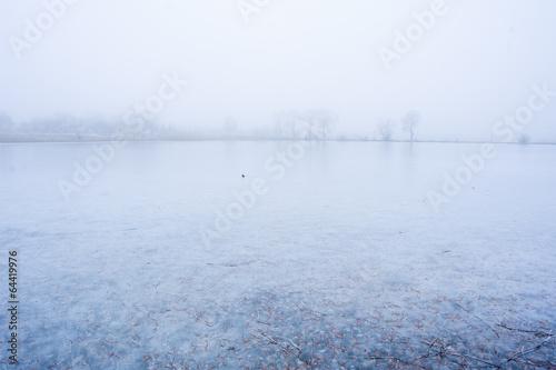 frozen lake - 64419976