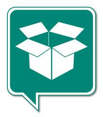 Logo recyclage papier carton.