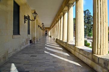 Corfu museum - columns