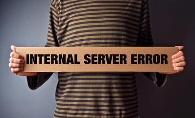 Http Error 500, Server error page concept