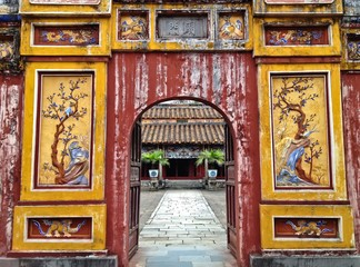 Hien Lam Pavillion Gate, The Citadel, Imperial City Hue, Vietnam