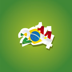 Mexico in Brazil 2014 vector