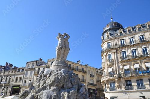 In de dag Fontaine Fontaine des Trois Grâces, Montpellier