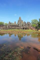 Bayon temple in Angkor Thom, Cambodia, Asia