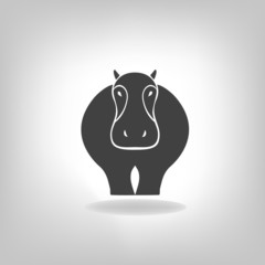 emblem of a hippopotamus on a light background
