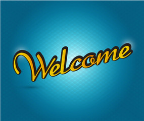 welcome sign illustration design