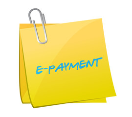 e payment message on a post illustration