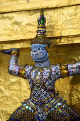 The Statue of guardian at Grand Palace in Bangkok, Thailand