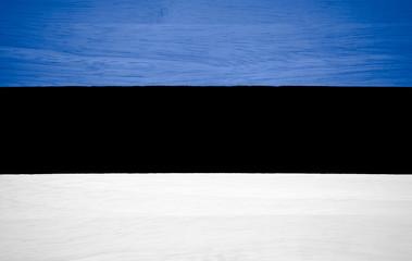 Estonia flag on wood texture