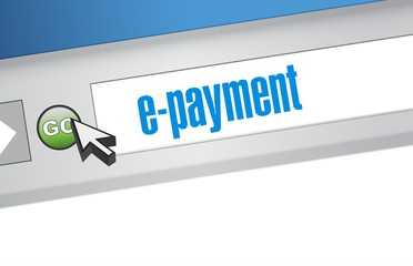 e payment browser illustration design