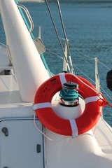 life preserver belt buoy on boat