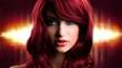 verführerische junge Frau mit roten Haaren