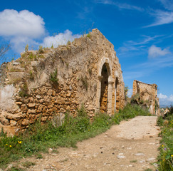 ruins of a town in sicily
