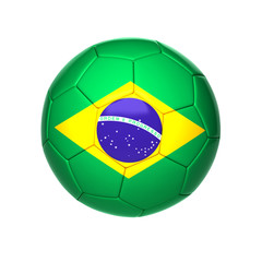 football ball with brazil flag