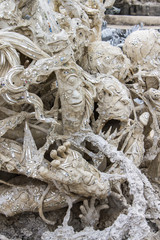 Art Hell Style in Wat Rong Khun Chiangrai Thailand
