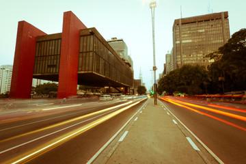 Avenida Paulista, São Paulo-Brazil. Vintage Photography