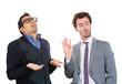 Frustration. Two men having argument. Professional relationship