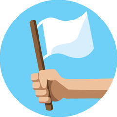 The white flag Icon