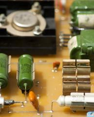 Радиодетали на печатной плате