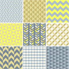 Seamless patterns set - simple geometry