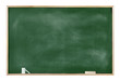 Textured Blackboard with Chalks and Eraser - 64426127