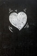 Heart on blackboard