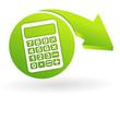 calculatrice sur symbole vert